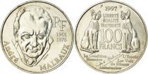 France 100 Francs André Malraux - 1997 Silver