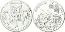 France 100 Francs Argent Liberation de Paris 1944 - 1994 - Essai - Argent