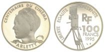 France 100 Francs Arletty - 100 years of Cinema - 1995 Proof