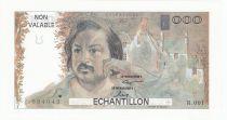 France 100 Francs Balzac - Echantillon - 1980 Série R.001
