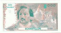 France 100 Francs Balzac 1980 - Serial G.038 - Echantillon