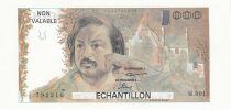 France 100 Francs Balzac 1980 - Serial M.001 - Echantillon