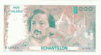 France 100 Francs Balzac 1980 - Série A.008 - Echantillon
