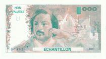 France 100 Francs Balzac 1980 - Série L.007 - Echantillon