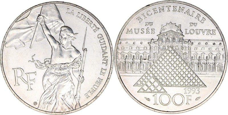 France 100 Francs Bicentennaire du Louvre - Liberte 1993