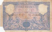 France 100 Francs Blue and pink - 06-04-1892 - Serial S.1208 - missing parts