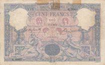 France 100 Francs Blue and pink - 08-02-1904 - Serial K.3969 - Good