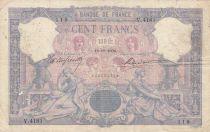France 100 Francs Blue and pink - 18-10-1904 Serial V.4181