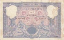 France 100 Francs Blue and pink - 23-01-1907 Serial H.4778 - F to VF