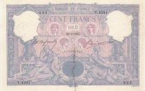 France 100 Francs Blue and pink - 24-02-1905 Serial T.4291
