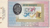 France 100 Francs Bon de Solidarité - 1941-1942 Annulé