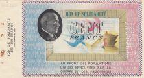 France 100 Francs Bon de Solidarité - Pétain Annulé - 1941 / 1942