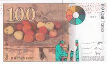France 100 Francs Cézanne - 1997 - Neuf - Série K.000