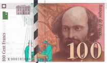 France 100 Francs Cezanne - 1997 - UNC - Serial K.000