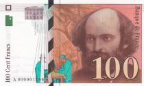 France 100 Francs Cezanne - 1997 A000001786 small serial number