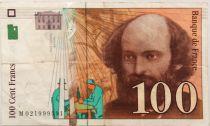 France 100 Francs Cezanne - 1997 Serial M.021 - VF