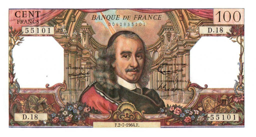 billet de 100 francs valeur