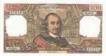 France 100 Francs Corneille - 06-01-1972 - Serial O.628