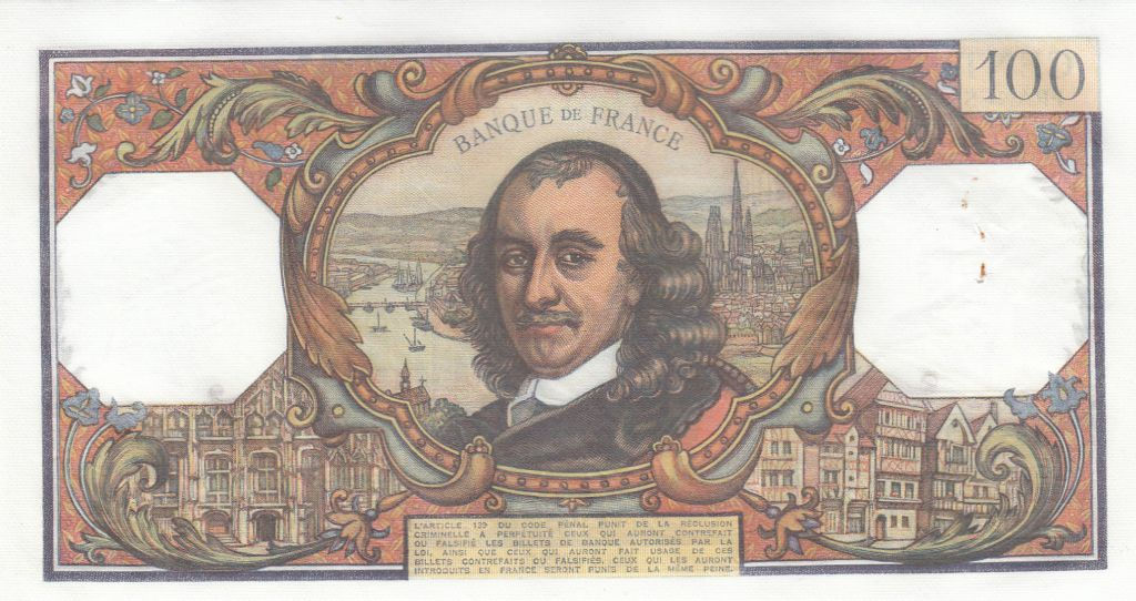 France 100 Francs Corneille - 06-01-1972 - Série O.628