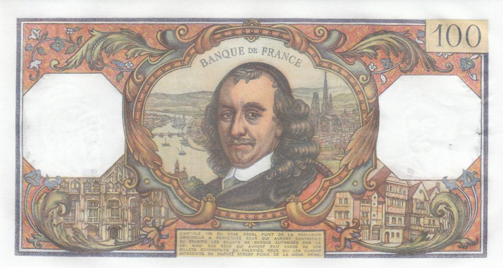 France 100 Francs Corneille - 06-11-1975 - Série J.895