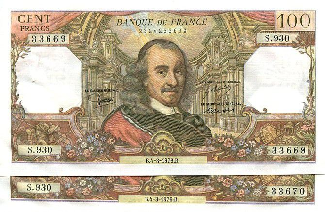 France 100 Francs Corneille - 1976