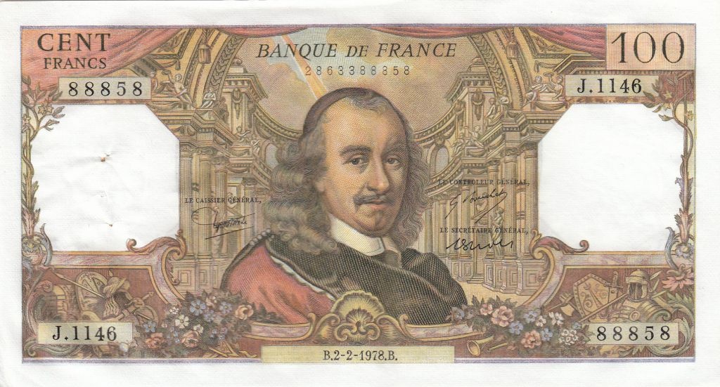 France 100 Francs Corneille 02-02-1978 - Série J.1146