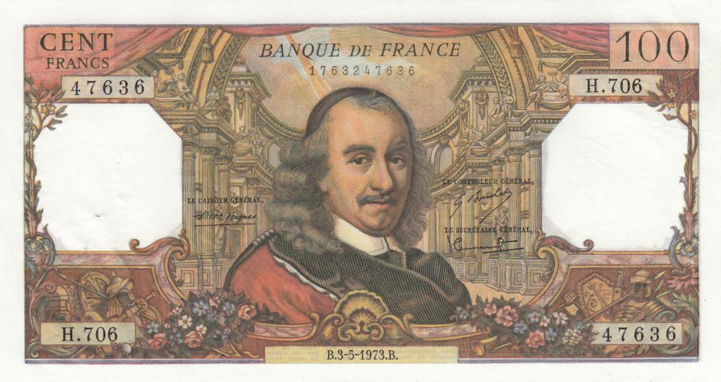 France 100 Francs Corneille 03- 05-1972 - Série H.706