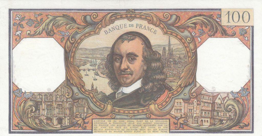 France 100 Francs Corneille 03-09-1970 - Série B.499
