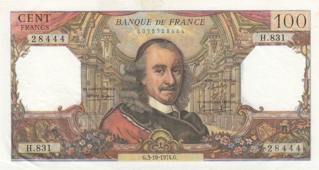 France 100 Francs Corneille 03-10-1972 - Série H.831