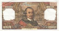 France 100 Francs Corneille 07-12-1967 - Serial G.273