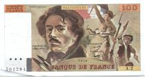 France 100 Francs Delacroix - 1978 Serial A.2 - P.153 - VF to XF