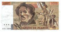 France 100 Francs Delacroix - 1978 Serial F.8 - Small watermark - VF