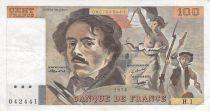 France 100 Francs Delacroix - 1978 Serial H.1 - F+