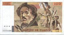 France 100 Francs Delacroix - 1978 Serial L.3 - P.153 - F+