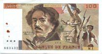 France 100 Francs Delacroix - 1978 Serial M.1 - P.153 -  VF