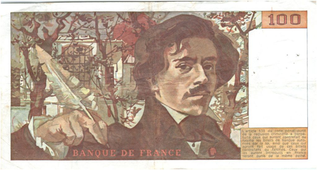 France 100 Francs Delacroix - 1978 Serial M.1 - P.153 - F to VF