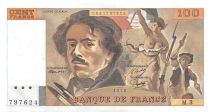 France 100 Francs Delacroix - 1978 Serial M.3 - XF