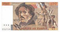 France 100 Francs Delacroix - 1978 Serial N.5 - AU+