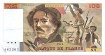 France 100 Francs Delacroix - 1978 Serial N.9 - Large watermark - VF