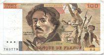 France 100 Francs Delacroix - 1978 Serial O.2 - P.153 - F+