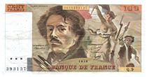 France 100 Francs Delacroix - 1978 Serial Q.9 - Large watermark - VF