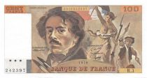 France 100 Francs Delacroix - 1978 Serial R.1 - AU