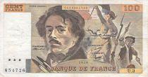 France 100 Francs Delacroix - 1978 Serial U.3 - F+