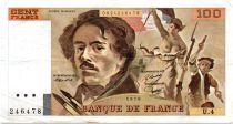 France 100 Francs Delacroix - 1978 Serial U.4 - P.154 - VF