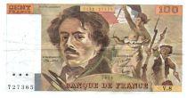 France 100 Francs Delacroix - 1978 Serial V.8 - Small watermark - VF
