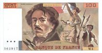 France 100 Francs Delacroix - 1978 Serial W.4