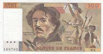 France 100 Francs Delacroix - 1978 Serial W.8