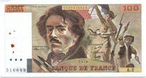 France 100 Francs Delacroix - 1978 Série A.2 - Non Hachuré - TTB