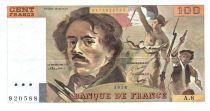 France 100 Francs Delacroix - 1978 Série A.8 - Grand filigrane - TTB