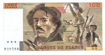 France 100 Francs Delacroix - 1978 Série A.8 - Grand filigrane - TTB